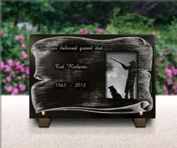Custom headstone plaque Hunter,shotgun