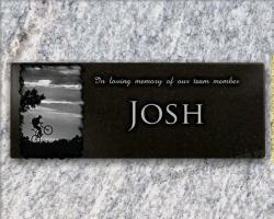 Memorial plaque for cemetery Cycle-race,cyclist,bike,cycle,mountain-bike,bmx,tandem