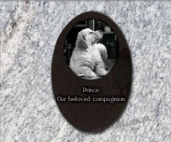 Grave marker plaque for grave dog