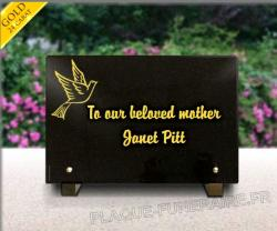 Glass funeral plaque