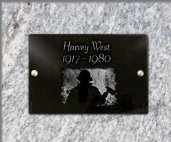 Headstone funeral plaque Fireman,soldier,fire