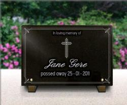 Granite grave plaque with photo granite