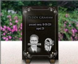 Personnalize our grave plaque portrait