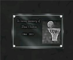 Personalized grave plaque Sports-other