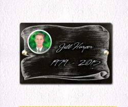 Engraved memorial plaques Parchment