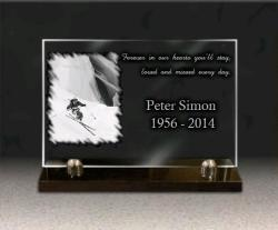 Engraved memorial plaques Snow-board,ski,snow,sport,winter,mountain,surf,toboggan,sledge