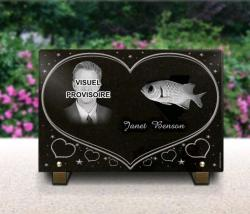 Personnalize our grave plaque heart