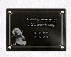 Memorial plaque for cemetery Angels,cherubs