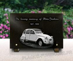 memorial plaque to customize vehicle