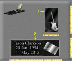 grave plaque personnalised with engraved photo musi