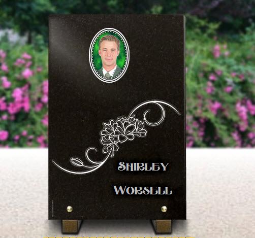 Memorial plaque granite  . 30 x 20 cm.