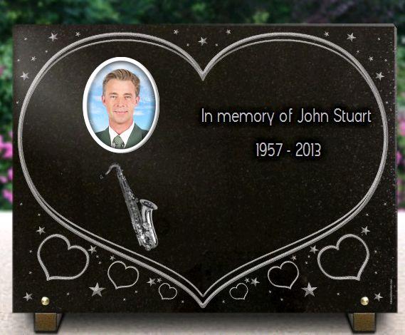 Memorial plaque granite Photoporcelain . 30 x 40 cm.