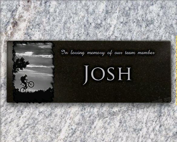 Memorial plaque granite  . 15 x 40 cm.