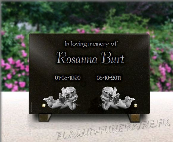 Memorial plaque granite  . 20 x 30 cm.