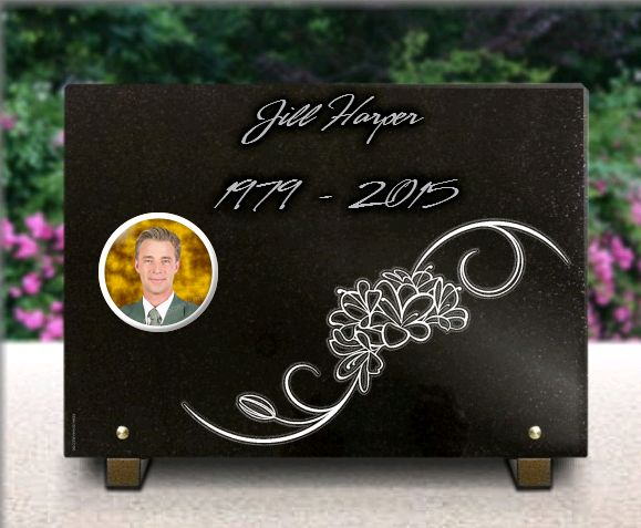Memorial plaque granite  . 25 x 35 cm.