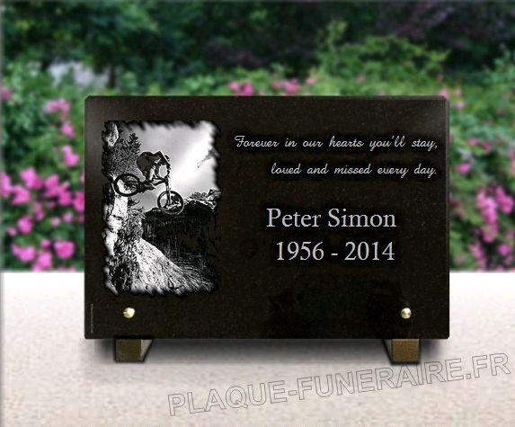 Memorial plaque granite  . 20 x 30 cm.