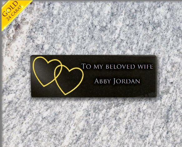 Cheap memorial plaque granite  . 10 x 30 cm.
