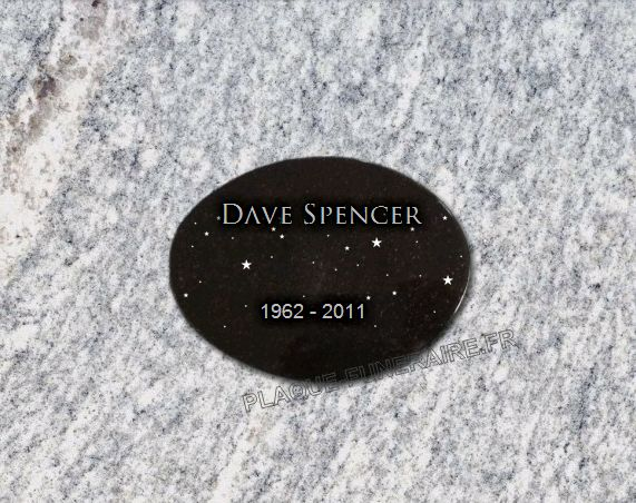 Memorial plaque granite  . 15 x 20 cm.