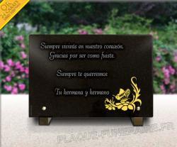 placa funeraria lapida Aves,palomas,animales