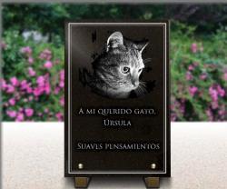 Placa para un monumento funerario retratista