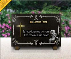 Placa grabada cementerio Angeles,angelotes