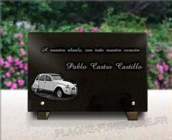 Placa de arte funerario Coches,coleccion,vehiculo,carreras,bolido,tuning,