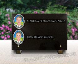 Placa funeraria granit