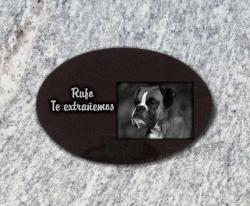 Placa para personalizar con nuestro software en línea perros