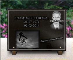 Placa funeraria barata retratista