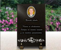 Placa funeraria lapida Flores,ramos,ramilletes,rosas,lirios,orquideas,claveles,pensamientos