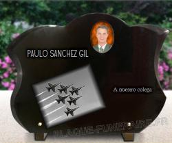 Placa grabada cementerio Aviacion,aviones