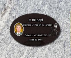 placa funeraria lapida Foto,Porcelana,medallon,ceramica