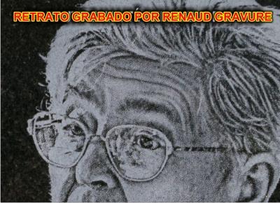 retrato grabado por RENAUD Gravure