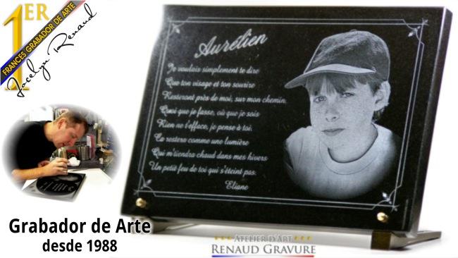 Placa funeraria grabado y personalizado por cementerio