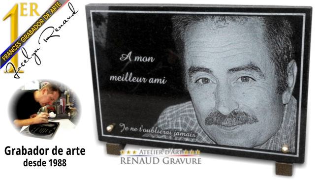 Renaud gravure fabricante de placa funeraria con foto