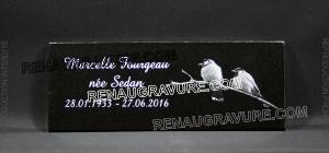 Photo de : Plaque funéraire columbarium pour columbarium.