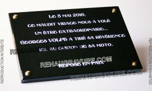 Photo de : Plaque commémorative à fixer 35x25cm en granit gravé.