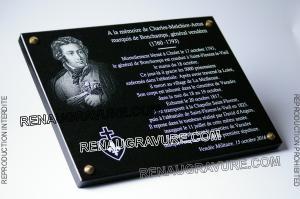 Photo de : Plaque commémorative en mémoire du marquis de Bonchamps