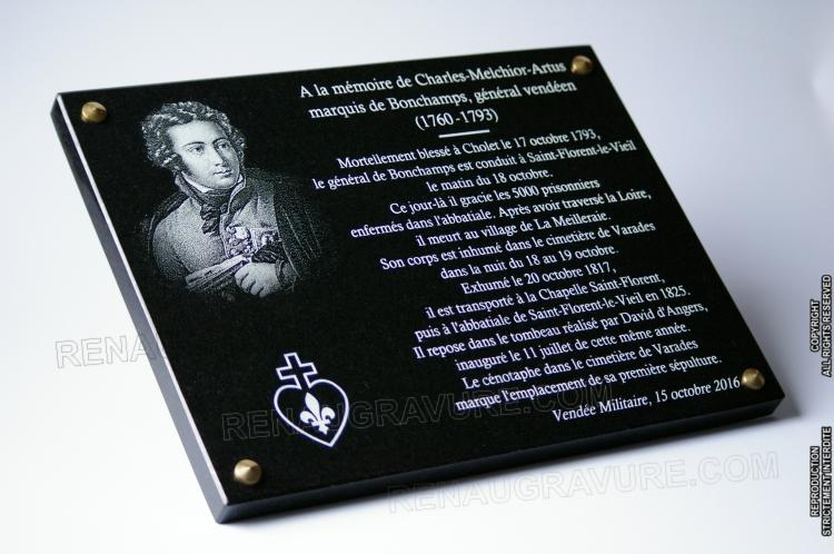 Granite Memorial Plaque to Customize