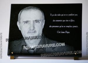 Photo de : Plaque funéraire personnalisée avec photo