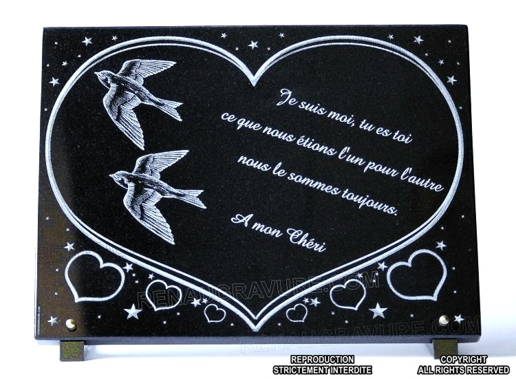 cr ez une plaque funeraire avec colombe ou divers oiseaux. Black Bedroom Furniture Sets. Home Design Ideas