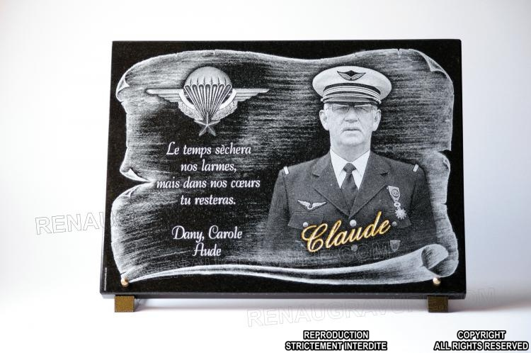 Funeral plaque for a soldier