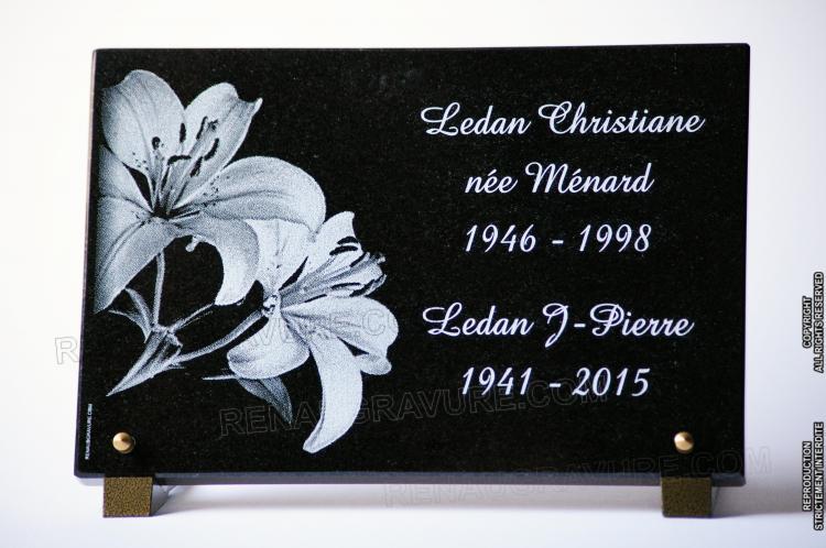 motifs de fleurs dor sur votre plaque mortuaire personnalis e. Black Bedroom Furniture Sets. Home Design Ideas