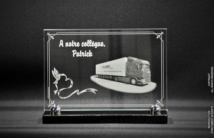 une plaque fun raire pour chauffeur routier avec camion. Black Bedroom Furniture Sets. Home Design Ideas
