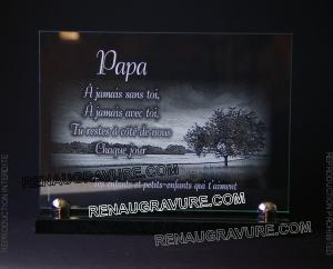 Photo de : Plaques funéraires en verre. Prix direct fabricant. N1 Français.