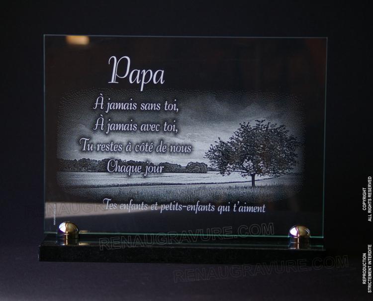 personnalisation de plaques fun raires en verre prix. Black Bedroom Furniture Sets. Home Design Ideas