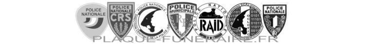 Plaque funéraire police