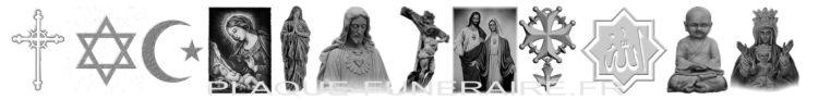 Motifs gravées de vierge, christ et croix