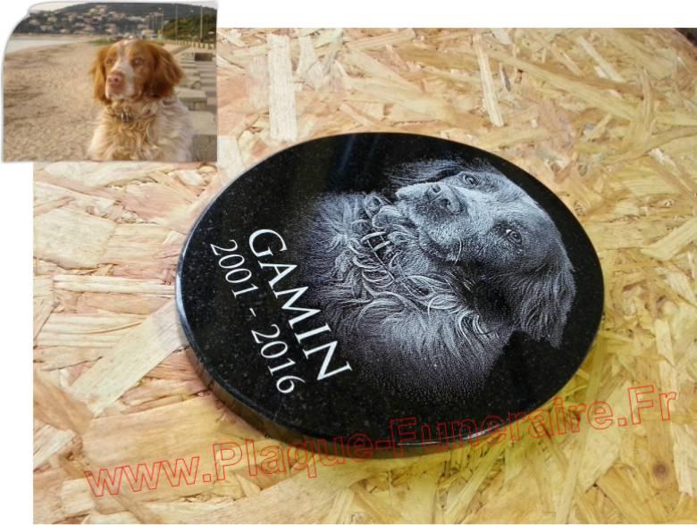 Plaque funeraire personnalisée pour chien