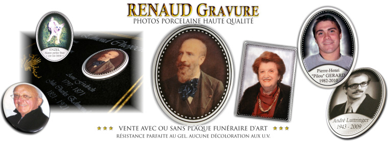 M�daillons en porcelaine et photos c�ramique personnalisables.